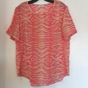 Equipment pink orange T- Shirt. L /M